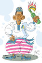 Cartoon: Obama - ukrainische Version (small) by Sergey Repiov tagged obama,ukraine