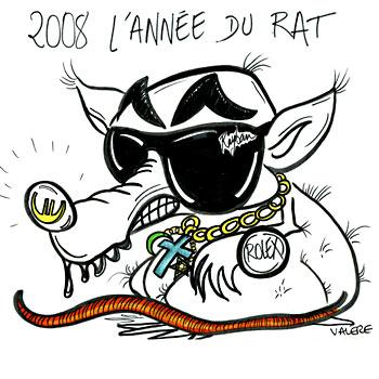 Cartoon: 2008 is the year of the rat (medium) by Valere tagged sarkozy,rat,the