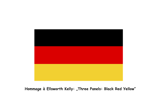 Cartoon: Hommage a Ellsworth Kelly (medium) by Erwin Pischel tagged ellsworth,kelly,hard,edge,primärfarben,rot,gelb,blau,quadrat,farbfeldmalerei,maler,bildhauer,nachkriegsmoderne,praemium,imperiale,national,medal,of,arts,red,yellow,blue,painter,pischel