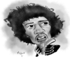 Cartoon: Jimi Hendrix (small) by Mark Anthony Brind tagged mark brind jimi hendrix caricature