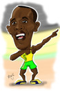 Cartoon: Usain Bolt... (small) by Mark Anthony Brind tagged mark,anthony,brind,usain,bolt