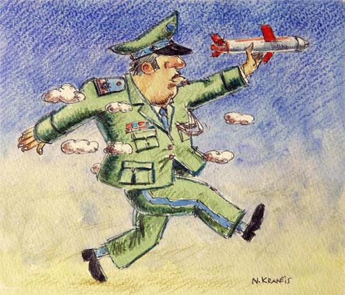 Cartoon: Luftwaffe (medium) by neophron tagged satire,cartoon,war,krieg