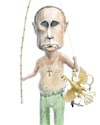 Cartoon: Putin with his catch (small) by neophron tagged putin,russia