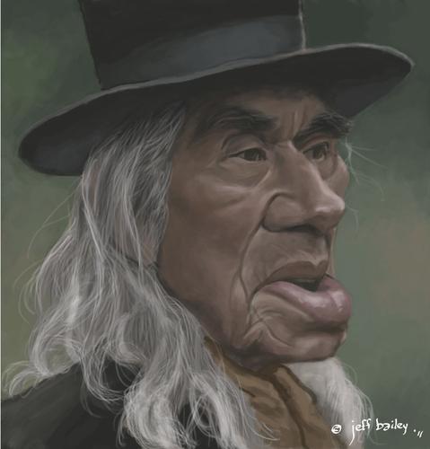 Cartoon: Chief Dan George (medium) by <b>Jeff Bailey</b> tagged wattie,lone - chief_dan_george_1561005
