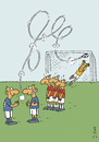 Cartoon: Freistoß (small) by JanKunz tagged tor,ball,mauer,luft