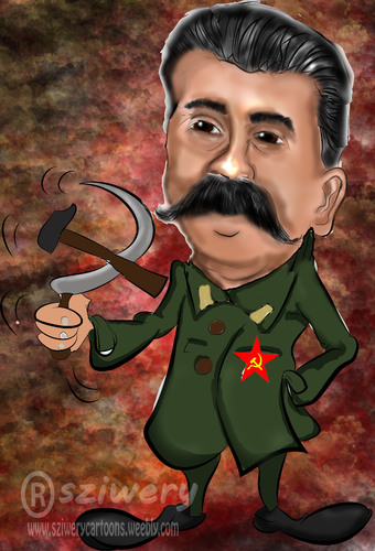 Cartoon: stalin (medium) by sziwery tagged politicians,stalin,communism