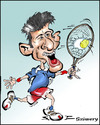 Cartoon: novak djokovic (small) by sziwery tagged djokovic