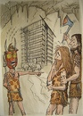 Cartoon: Bad time for architects (small) by caknuta-chajanka tagged cave,caveman,architecture,progress,culture