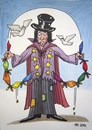 Cartoon: Magician (small) by caknuta-chajanka tagged magic,magician,poverty