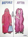 Cartoon: Shampoo (small) by caknuta-chajanka tagged woman,hair,look,emancipation