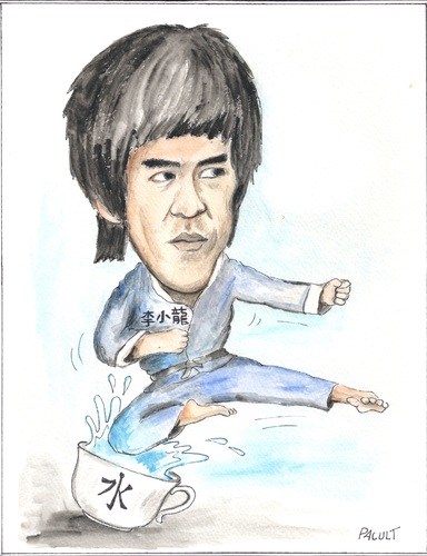 Cartoon: BRUCE LEE (medium) by ANDRZEJ PACULT tagged sport,arts,martial,fu,kung,lee,bruce