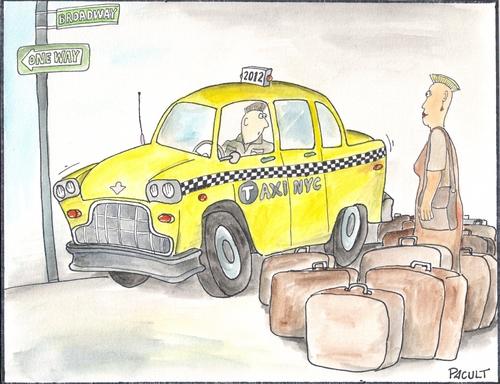 Cartoon Taxi Driver Medium