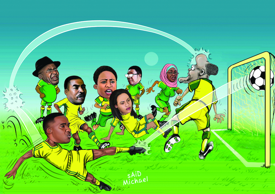 Cartoon: MAKONDA (large) by Said Michael tagged war