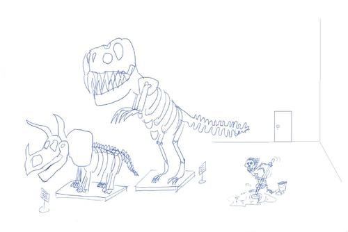 Cartoon: Museum (medium) by tristanactor tagged museum,dinosaurier