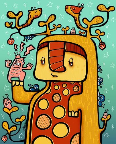 Tree Monster By Shihohoshino Nature Cartoon Toonpool Cartoon character male, business people. tree monster by shihohoshino nature
