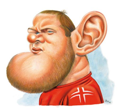 Wayne Rooney Caricature Cartoon Rooney medium by pe tagged manchester united