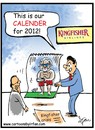 Cartoon: The Kingfisher calendar (small) by irfan tagged indian,aviation