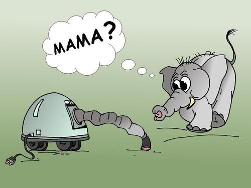baby elefant by wista  nature cartoon  toonpool ~ Staubsauger Baby