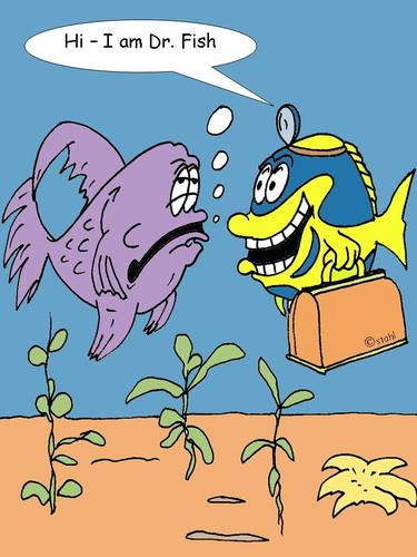 Doctorfish by wista nature cartoon toonpool for The fish doctor