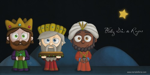 Feliz Dia De Reyes Fotos.Feliz Dia De Reyes By Kellerac Religion Cartoon Toonpool