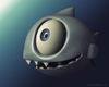Cartoon: A cute Piranha (small) by kellerac tagged animal,piranha,sealife,cartoon,cute,3d,kellerac,maria,keller