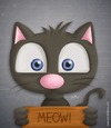 Cartoon: Cat got your tongue? (small) by kellerac tagged cartoon,cat,gato,caricatura,kellerac,maria,keller,animal,nature,naturaleza