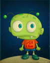 Cartoon: Little Alien (small) by kellerac tagged alien,extraterrestre,cartoon,caricatura,maria,keller,kellerac,cute