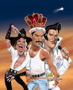 Cartoon: Heilige drei Könige. (small) by Ausgezeichnet tagged michael,jackson,freddie,mercury,elvis,king,of,pop,rock,music,caricature,karikatur