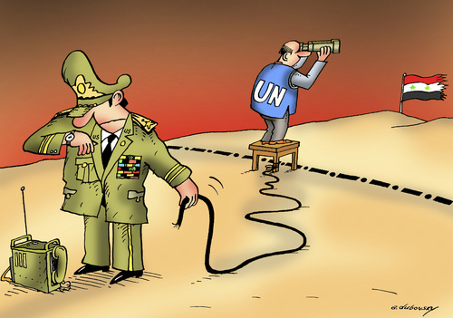 Cartoon: Deadline (medium) by Dubovsky Alexander tagged resolution,the,war,united,nations,syria,observers