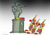 Cartoon: clown monument (small) by Dubovsky Alexander tagged monument,clown,policy
