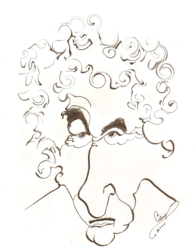 Cartoon: Bob Dylan (medium) by cabap tagged caricature
