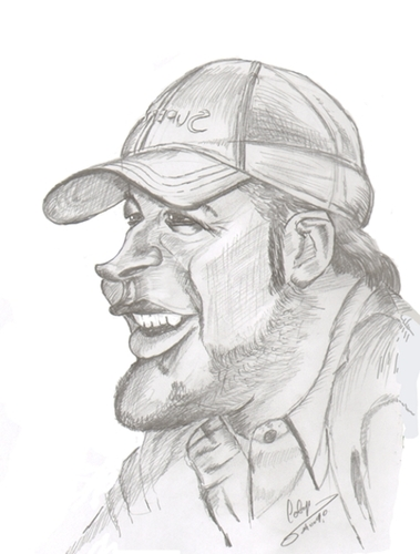 Cartoon: Bode Miller (medium) by cabap tagged caricature