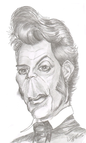 Cartoon: Dirk Bogarde (medium) by cabap tagged caricature