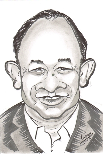 Cartoon: John Woo Yu-Sen (medium) by cabap tagged caricature
