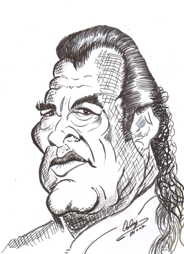 Cartoon: Steven Seagal (medium) by cabap tagged caricature