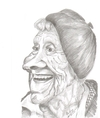 Cartoon: Astrid Lindgren (small) by cabap tagged caricature