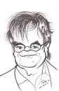 Cartoon: Garrison Keillor (small) by cabap tagged caricature