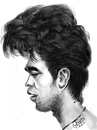 Cartoon: ipad Robert Pattinson! (small) by cabap tagged caricature,ipad
