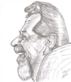 Cartoon: Leo Buscaglia (small) by cabap tagged caricature
