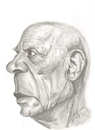 Cartoon: Pablo  Picasso (small) by cabap tagged caricatures