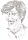 Cartoon: Stephen Fry (small) by cabap tagged caricature