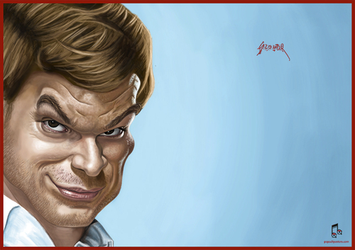 Cartoon: Dexter Morgan (medium) by szomorab tagged dexter,morgan