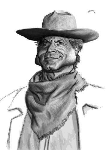 Cartoon: terence hill (medium) by szomorab tagged terence,hill