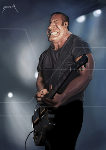 Cartoon: Trent Reznor 2 (medium) by szomorab tagged nine,inch,nails,trent,reznor,alternative,industrial,metal,rock,music,live,concert,guitar