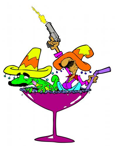 Cartoon  Banditos  medium  by PATMOJOE tagged mexican margaritta drink    Mexican Cartoon Character