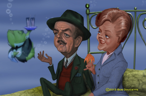 Cartoon: Bedknobs and Broomsticks (medium) by tobo tagged angela,lansbury