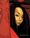 Cartoon: Maggie Cheung in Hero (small) by tobo tagged maggie,cheung,hero