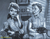 Cartoon: I Love Lucy (small) by tobo tagged tv caricature