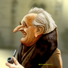 Cartoon: J R R Tolkien (small) by tobo tagged tolkien,caricature