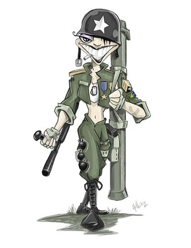 Soldier Cartoon By Hellder Gonzales Media Culture Cartoon Toonpool